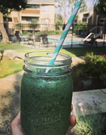 "Not your typical ""green juice""! This smoothie is packed with FIBER and healthy fat, 2 essential components to any healthy smoothie. It's got just the right amount of sweetness and the spirulina it contains helps give it that bright green color while supporting your body's natural ability to detox. It will be a new favorite go-to for sure!"