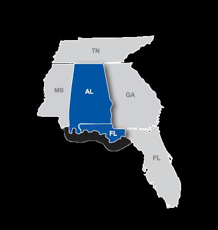 Gulf South Region Map.png