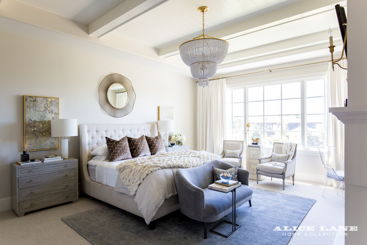 Ivory Lane Master Bedroom | Alice Lane Interior Design | Photo by Lindsay Salazar
