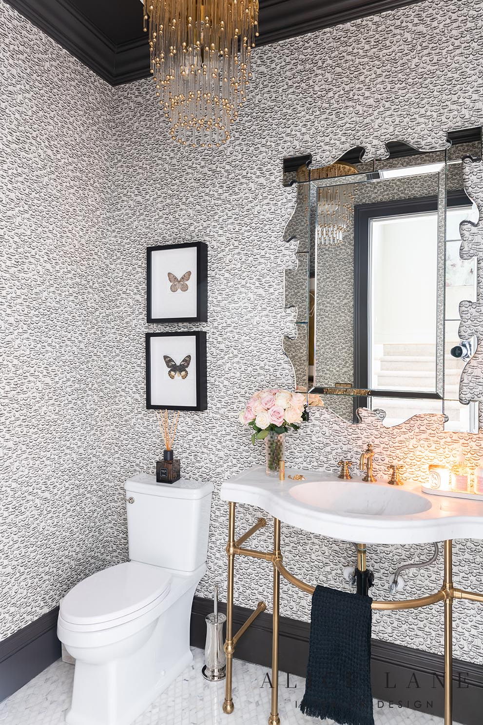 Rachel Parcell's Powder Bath | Alice Lane Interior Design | Photo by Rebekah Westover