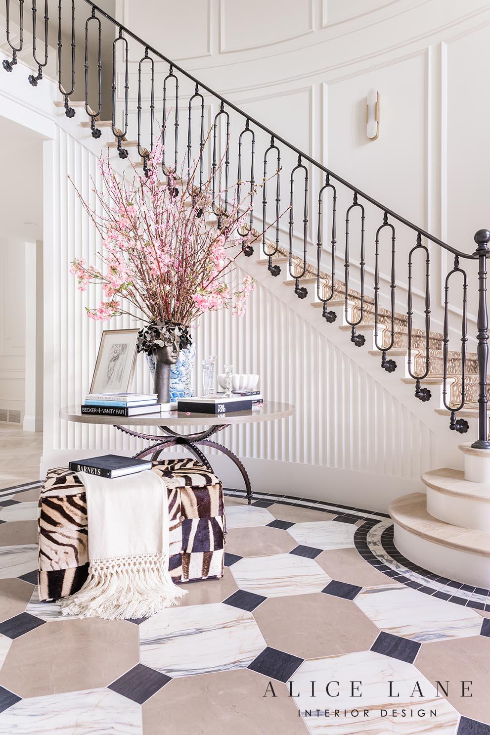 Rachel Parcell's Entry   Alice Lane Interior Design   Photo by Rebekah Westover