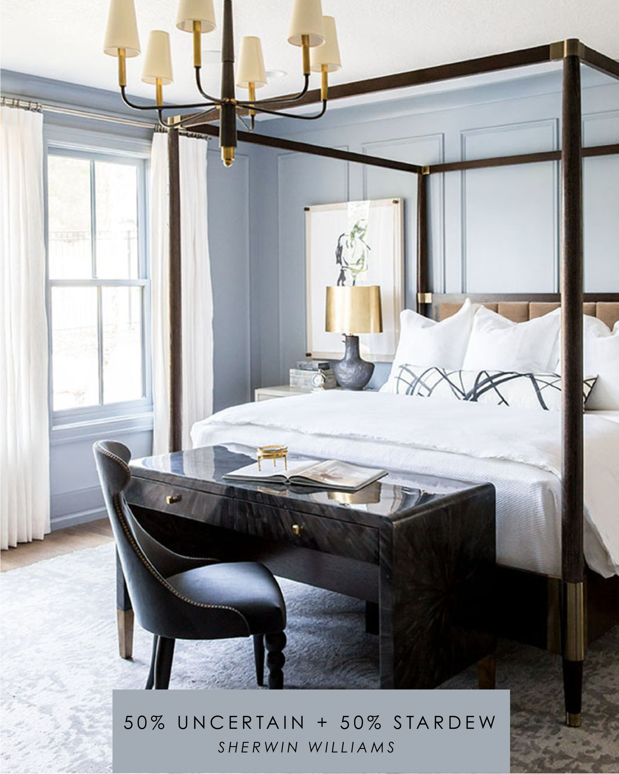 Yes to Color | Blue Master Bedroom | Alice Lane Interior Design | Photo by Lindsay Salazar