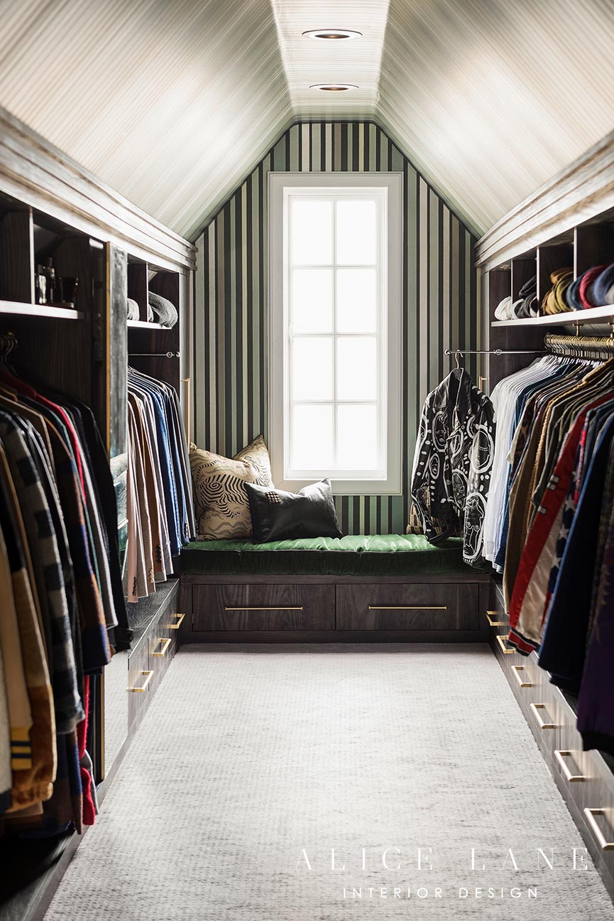 A peek inside Tan France's attic closet | Alice Lane Interior Design | Photo by Lucy Call