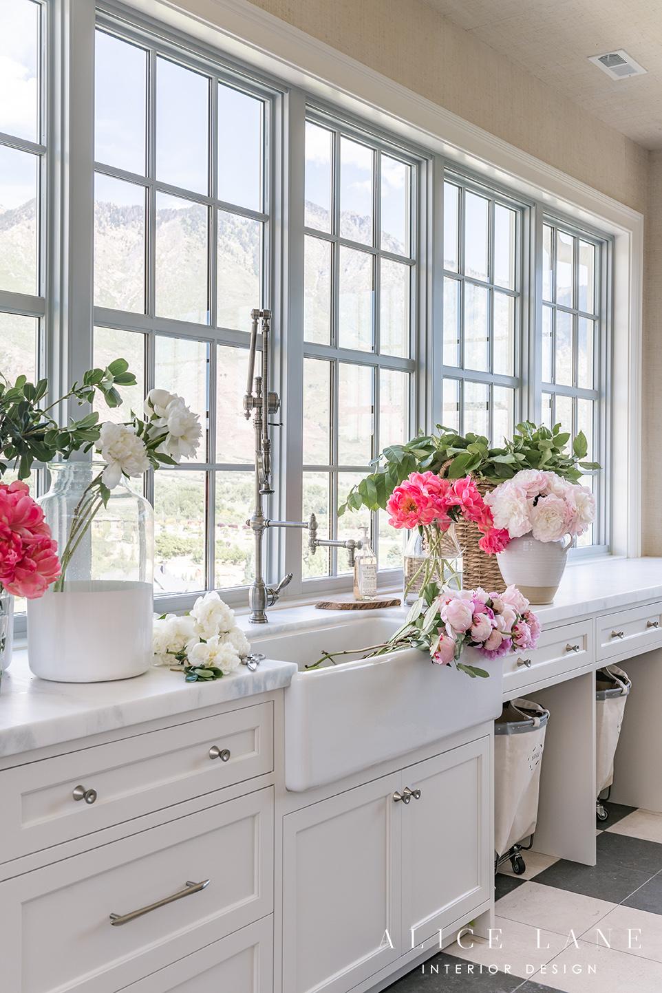 Rachel Parcell's Laundry Room   Alice Lane Interior Design   Photo by Rebekah Westover