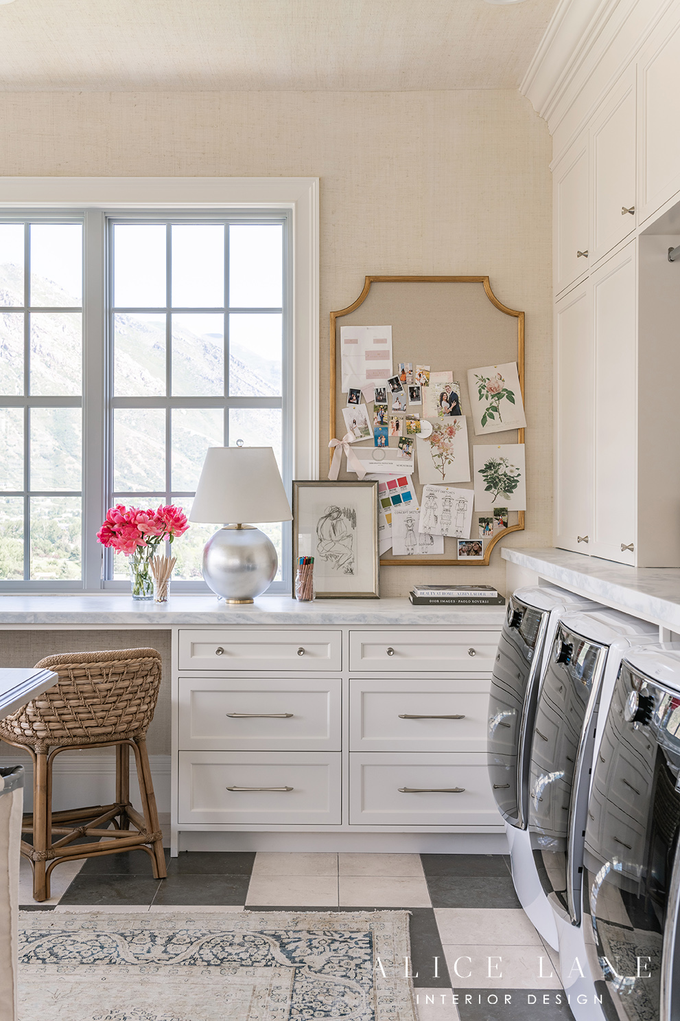 The Parcell Laundry Room | Alice Lane Interior Design | Photo by Rebekah Westover