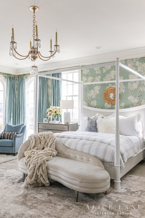 Rachel Parcell's Master Bedroom | Design by Alice Lane Interior Design | Photo by Rebekah Westover