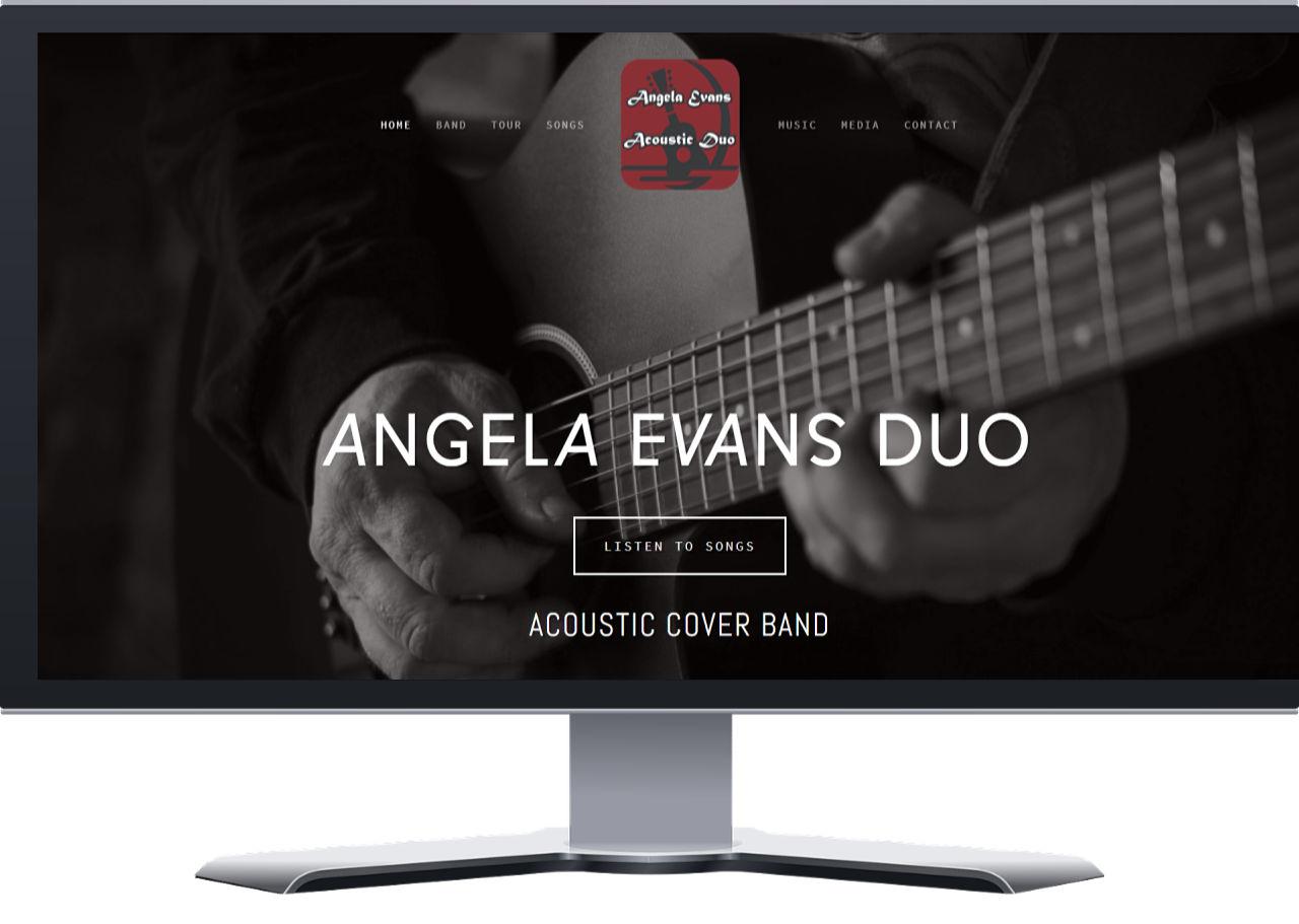 Angela Evans Duo Squarespace Website Launch