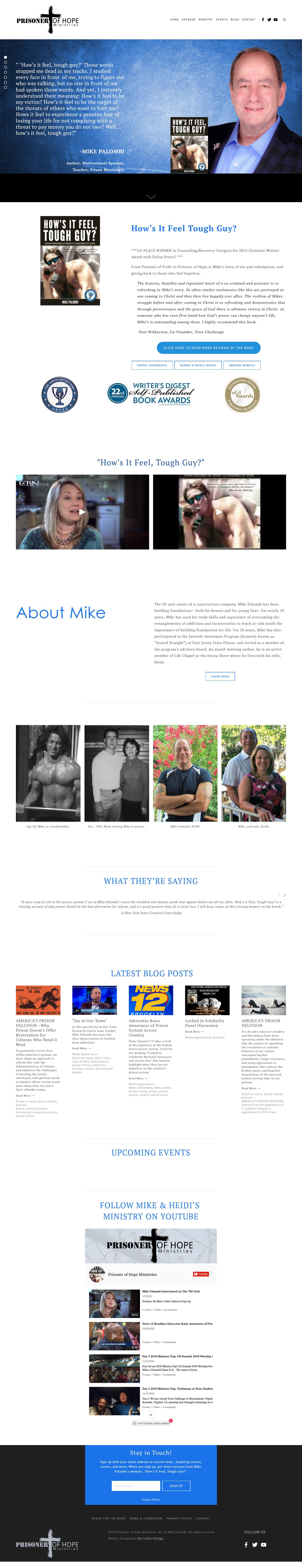 Mike Palombi Prisoner of Hope website design