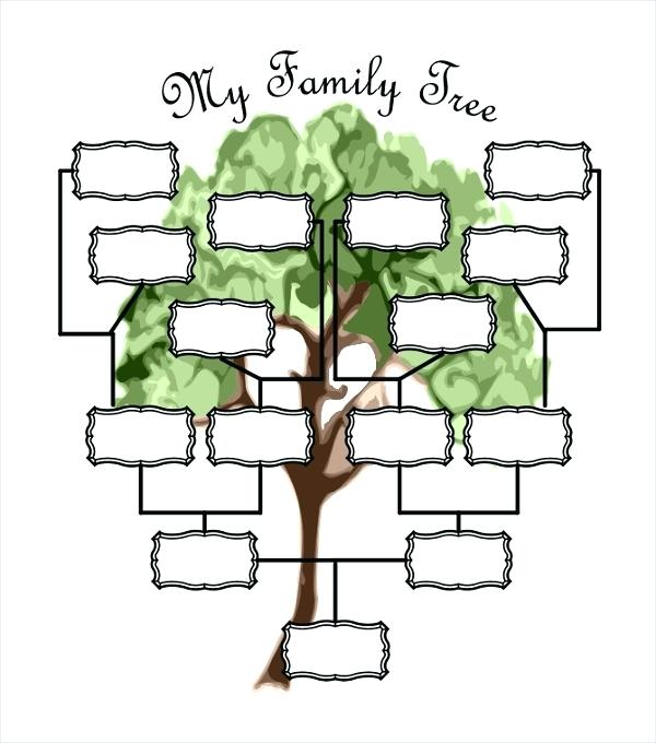 Family tree template child's school project