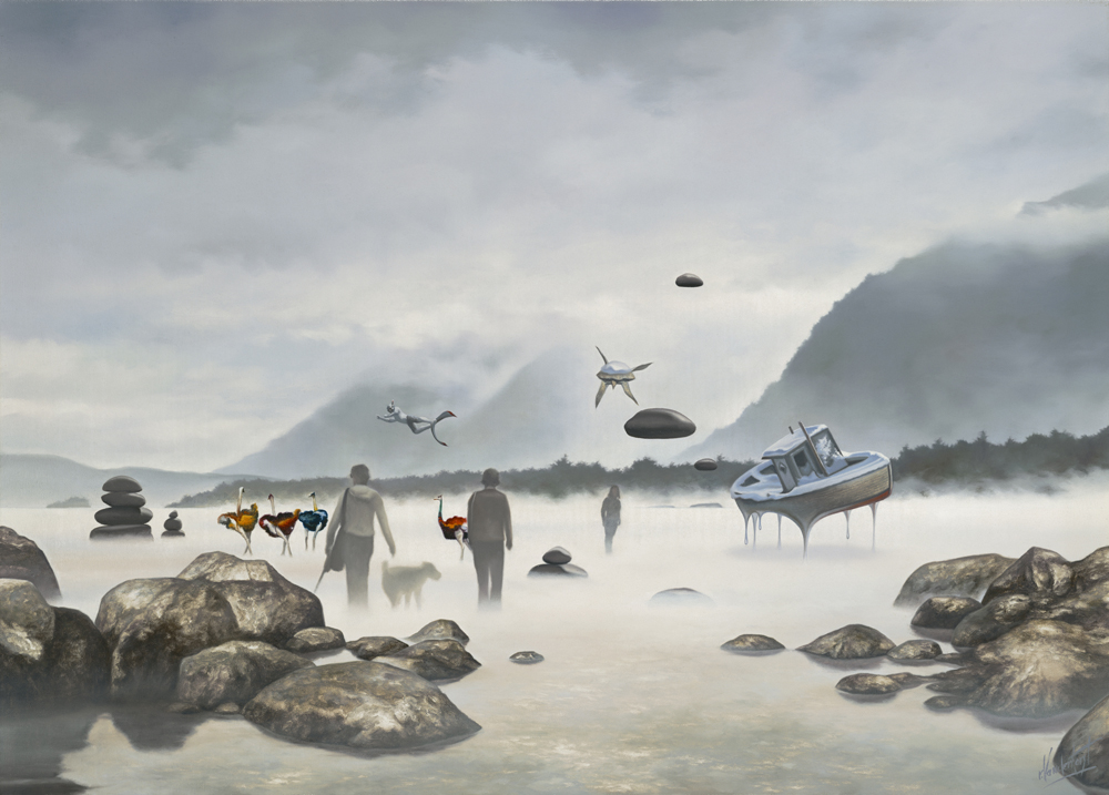 """10.    THE DREAMWALKERS    2008, 18"""" X 24"""", Oil on Canvas - SOLD - Private Collection"""