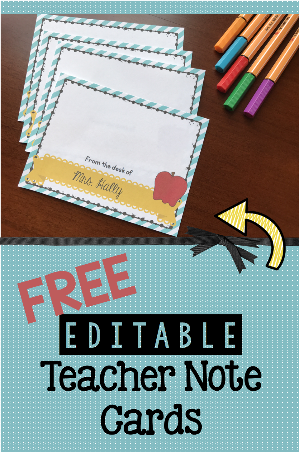 Free Teacher Note Cards Keeping My Kiddo Busy