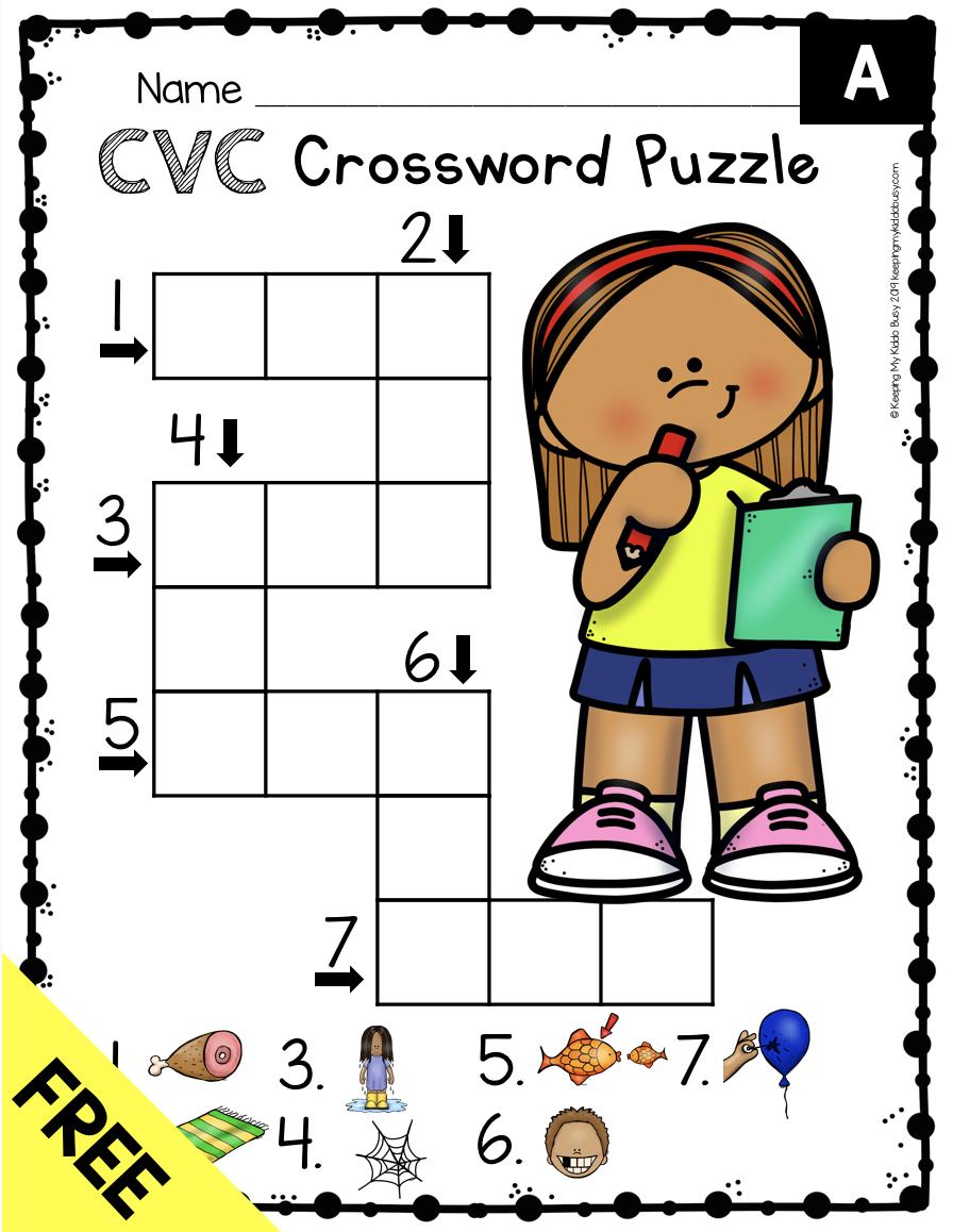 free cvc worksheet