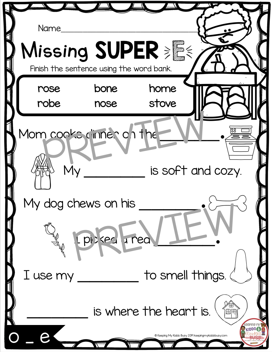 long vowel sentence scramble worksheet