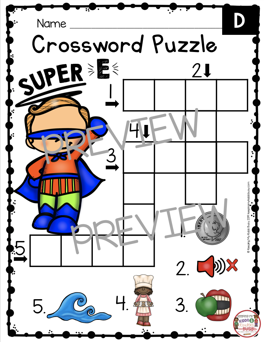 long vowel crossword
