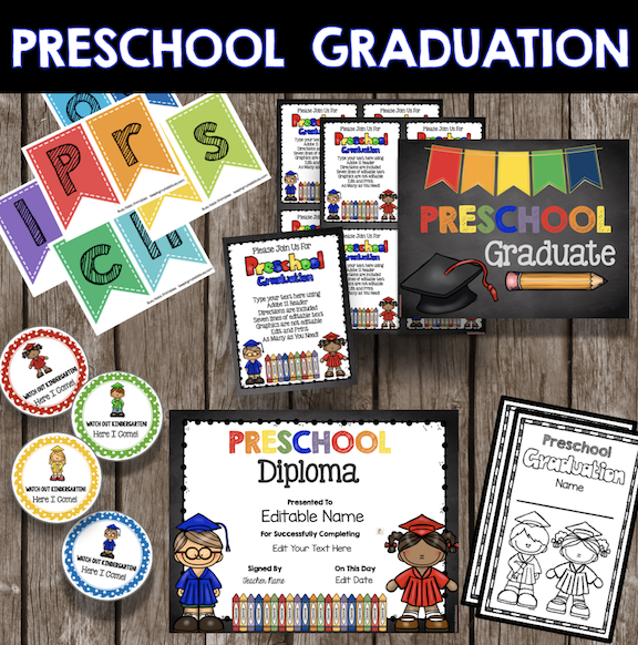 preschool graduation printables freee