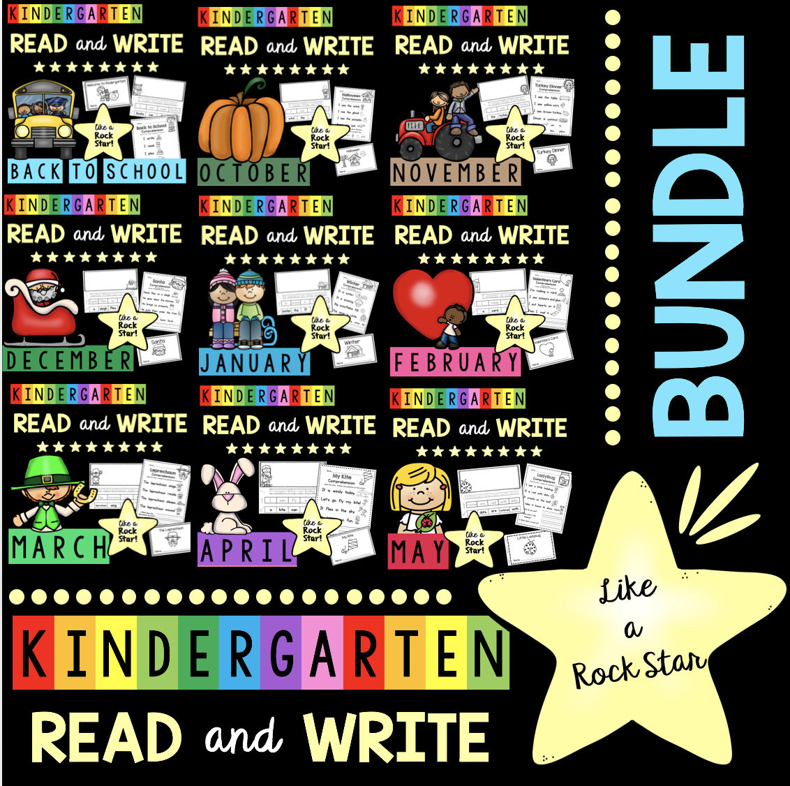 reading and writing bundle kindergarten