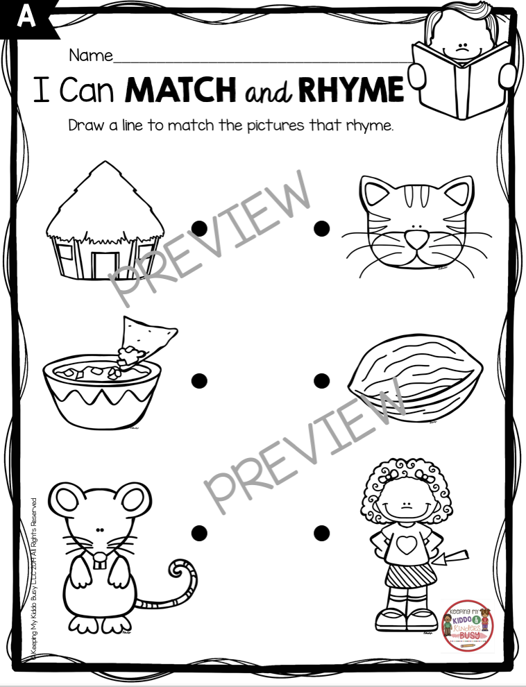 rhyming matching