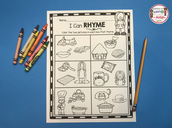 color and rhyme free activity