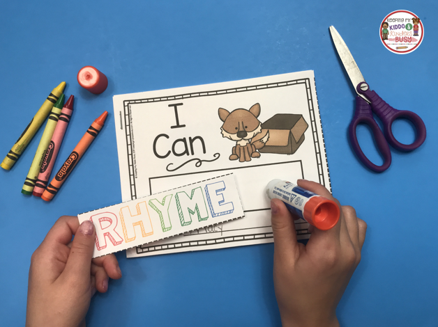 printable rhyming book student literacy center free