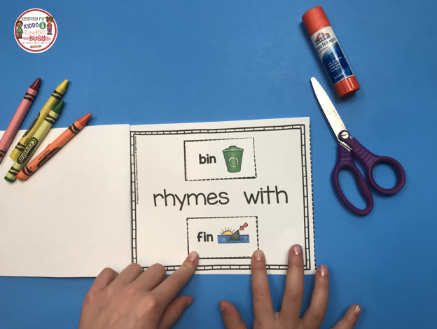 make a rhyme time book printable kindergarten classroom