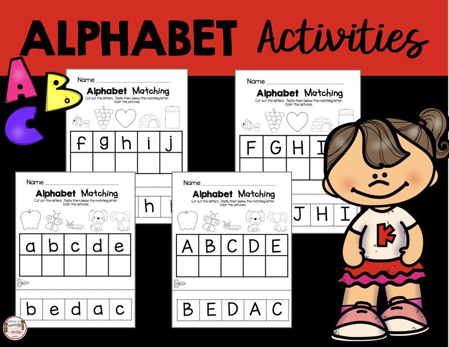 alphabet matching capital and lowercase