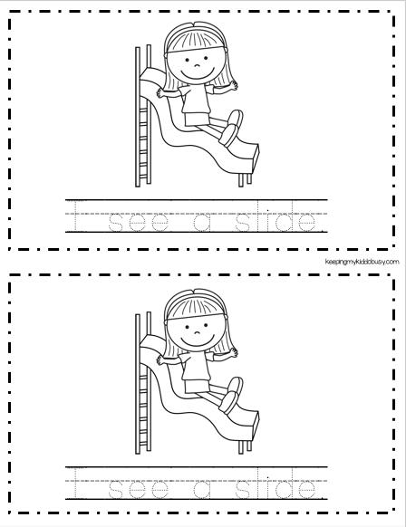 emergent reader tracing book kindergarten