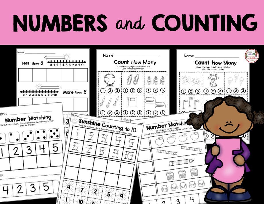 numbers and counting worksheets