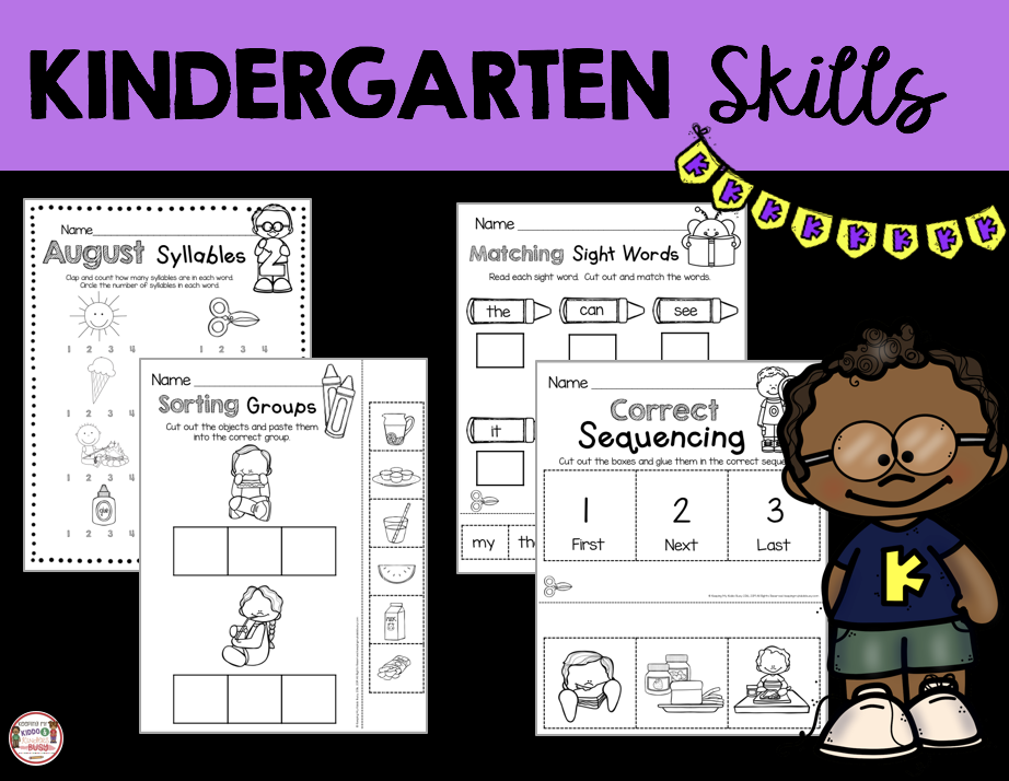 beginning of the year kindergarten skills