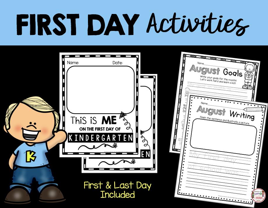 first day of kindergarten activity