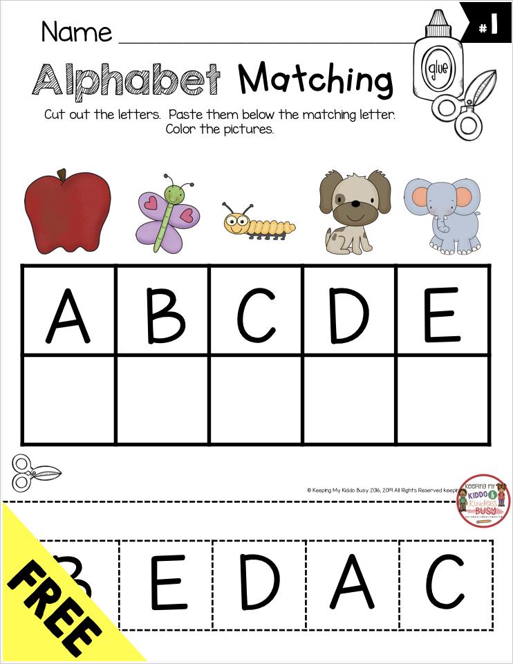free alphabet matching activity