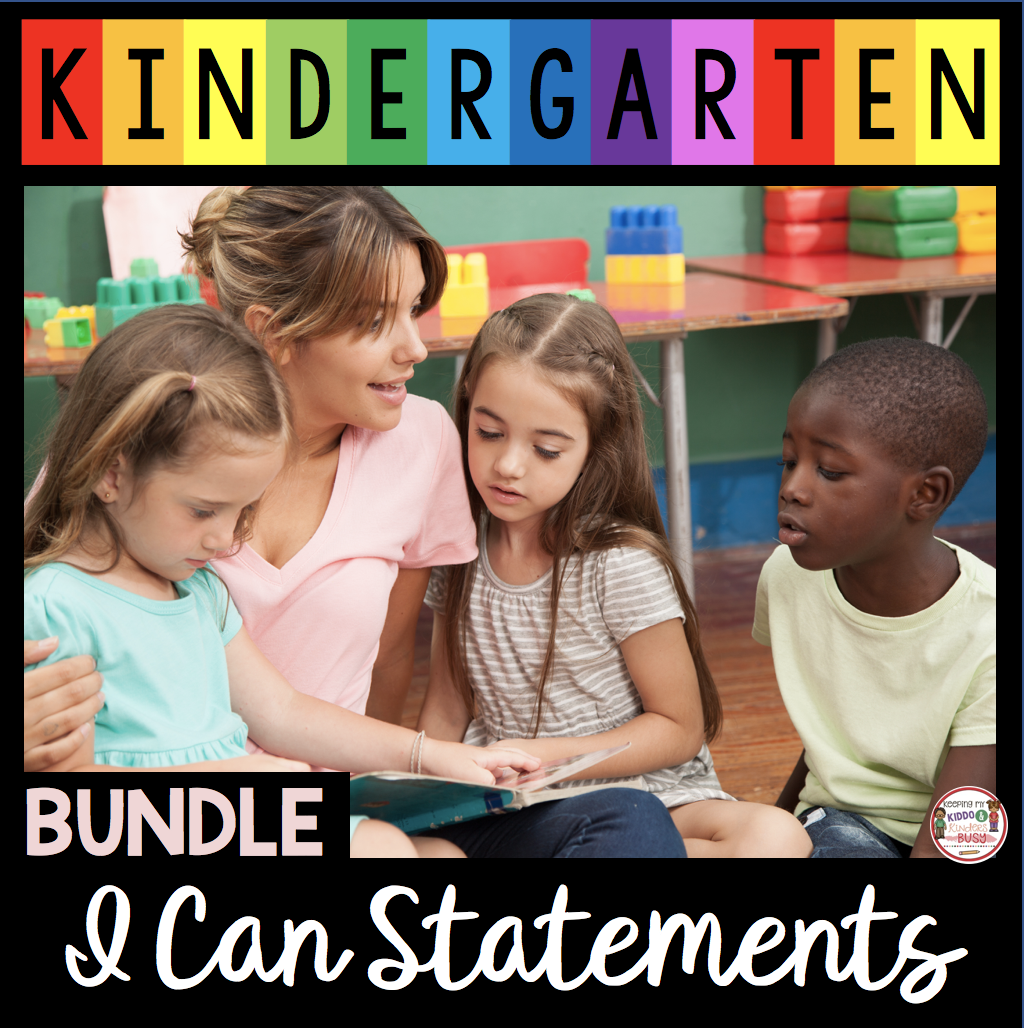 kindergarten I can statements free posters