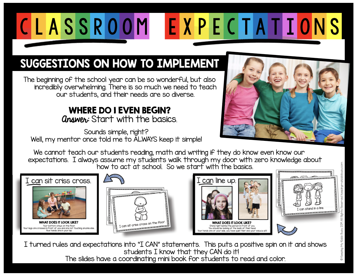 kindergarten rules and expectations