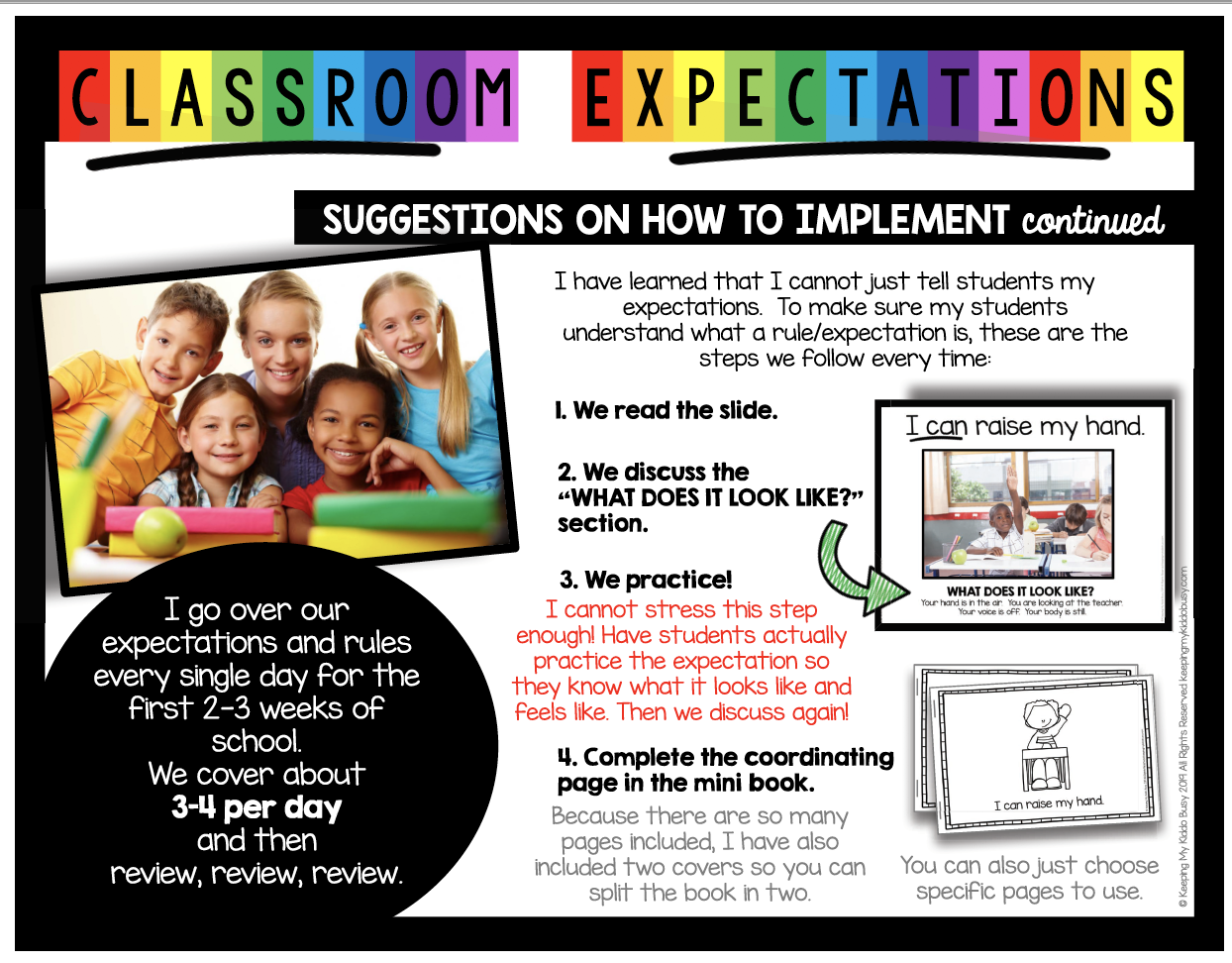 school rules and procedures slideshow and book free resources