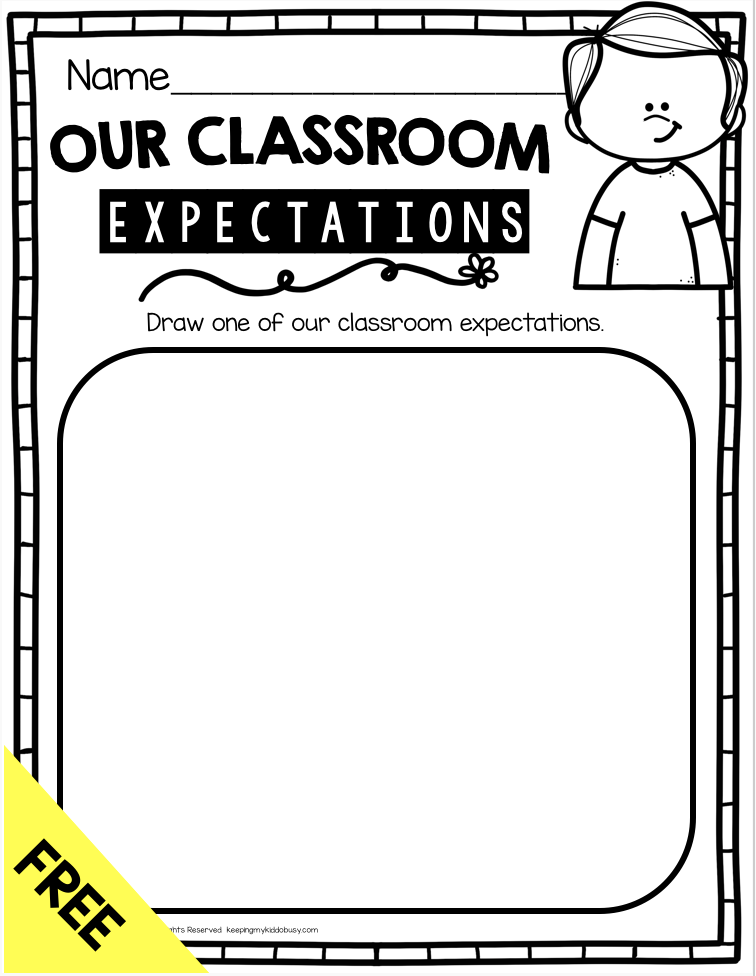 FREE classroom rules and expectations procedures activity