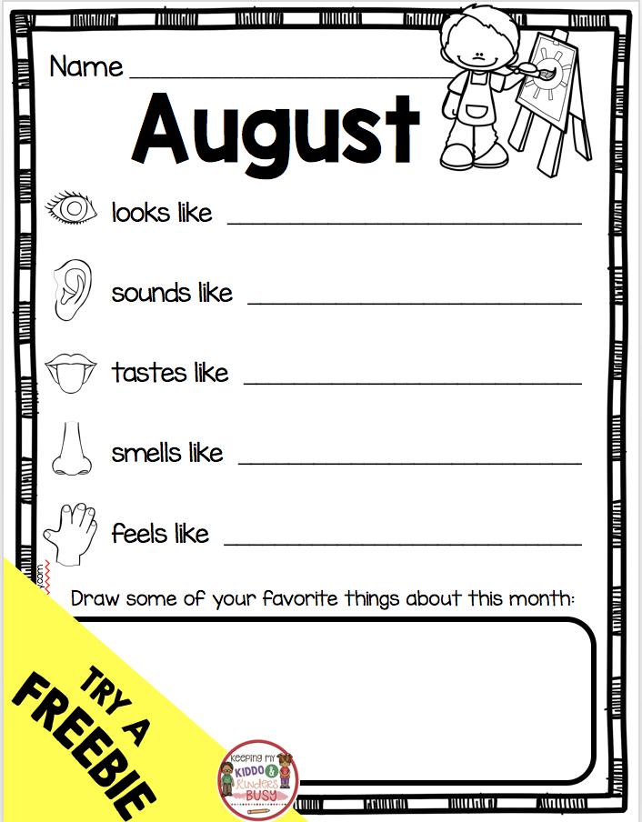august poetry kindergarten