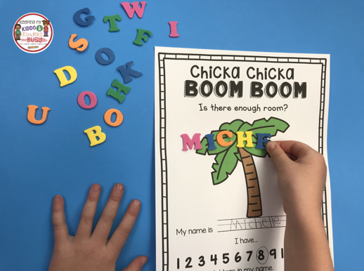 free chicka chicka boom boom printable activity