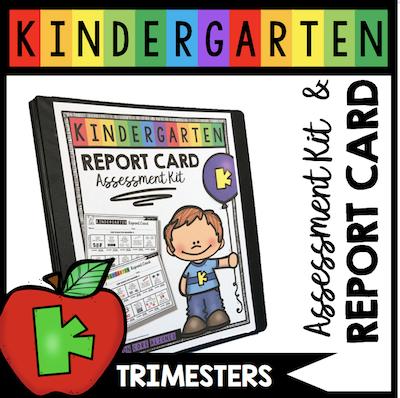 kindergarten report card testing assessment trimesters
