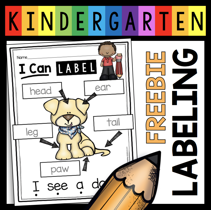 free labeling activity how to label kindergarten writing