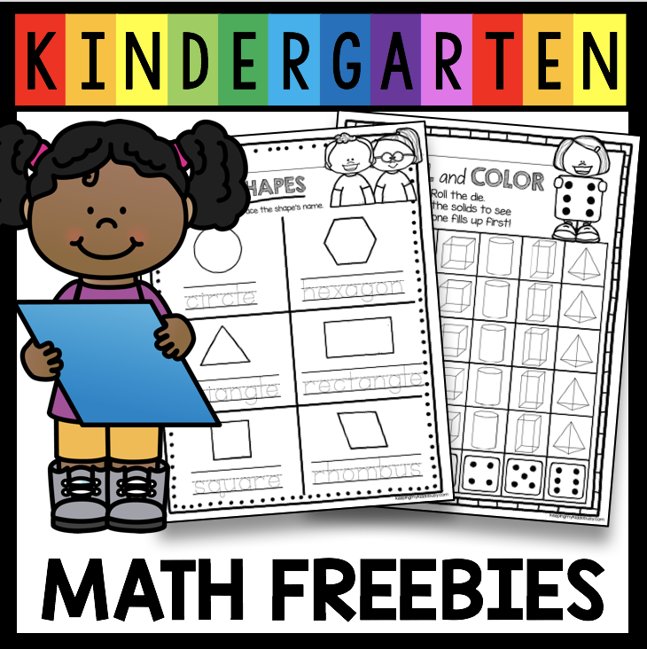 Free geometry worksheets for kindergarten and first grade