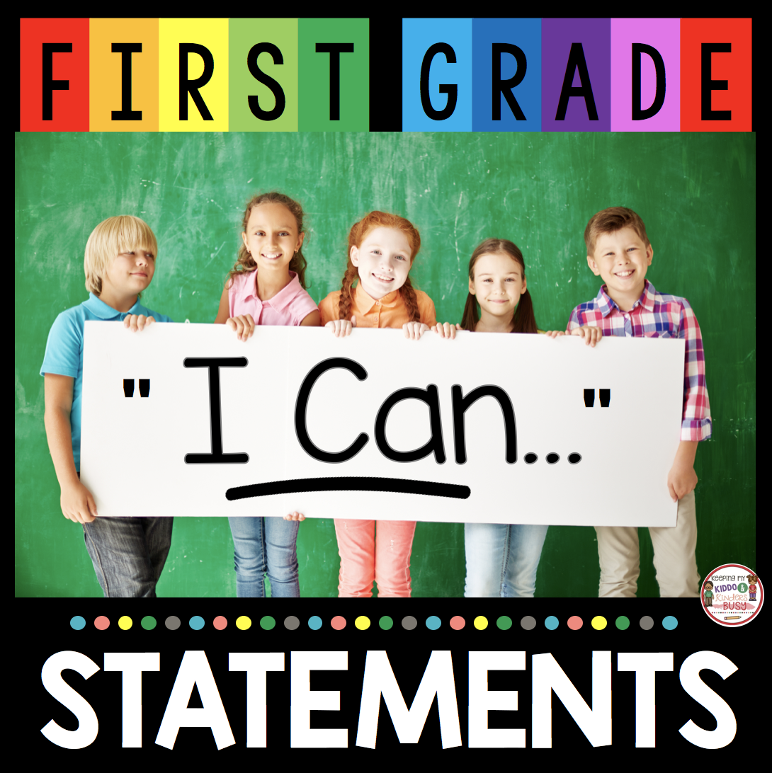 first grade I can statements common core Texas teks