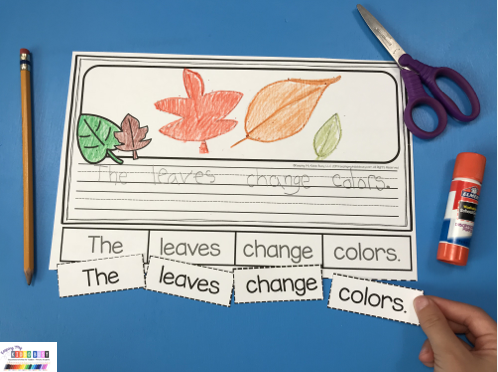 fall writing prompts for kindergarten first grade