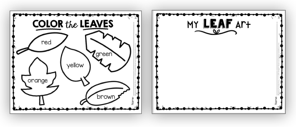 leaf art printables