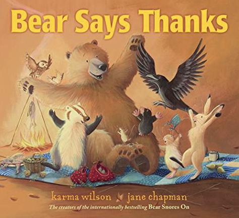 bear says thanks printables activities