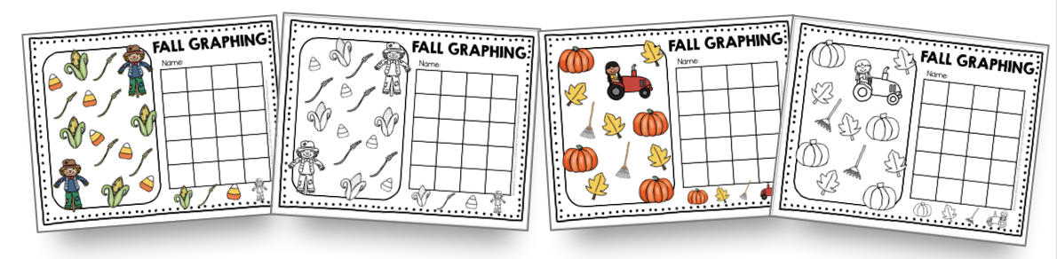 fall graphing activities for first grade and kindergarten