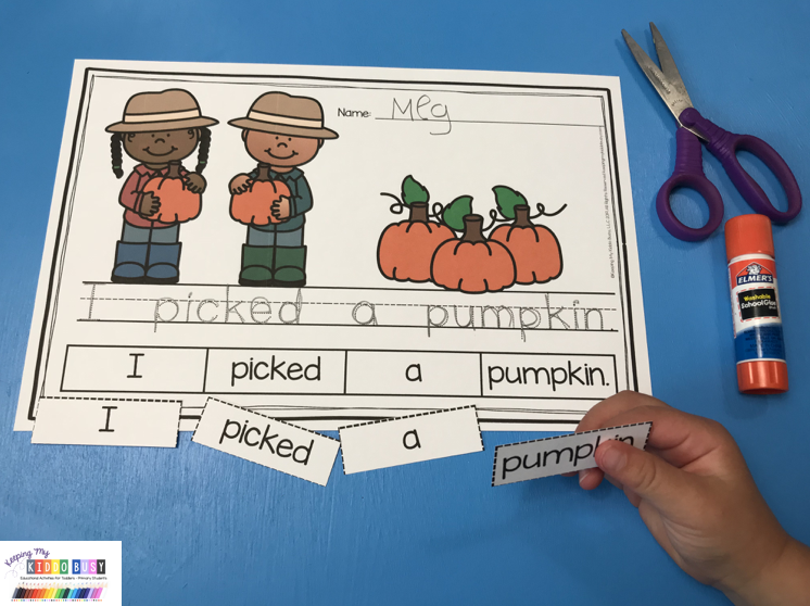 pumpkin writing prompt how to write a sentence