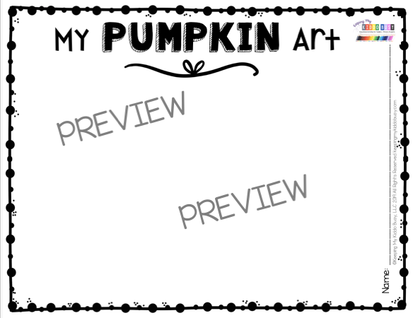 pumpkin art for kindergarten preschool