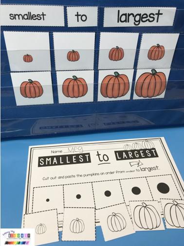 smallest to largest pumpkins