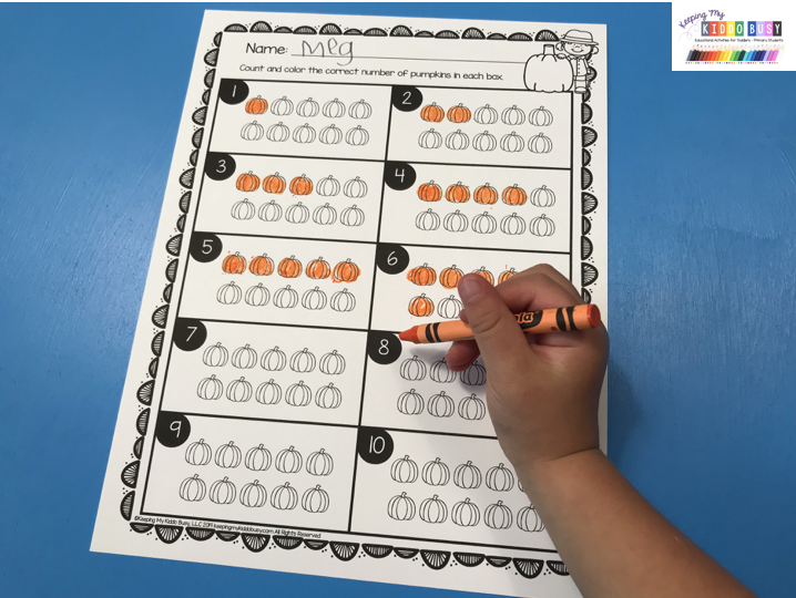 pumpkin counting numbers