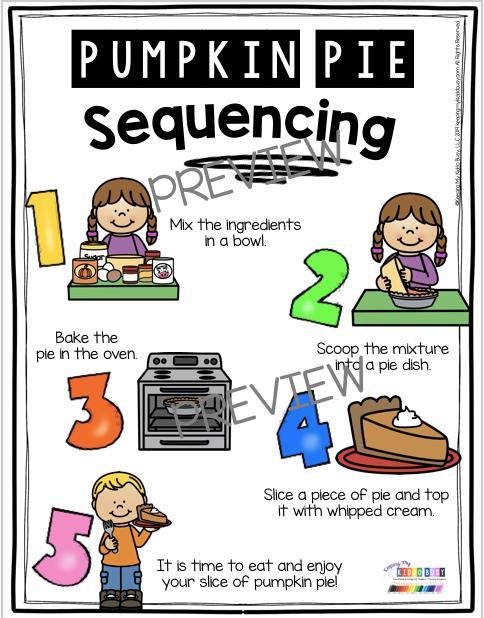 sequencing pumpkin pie unit