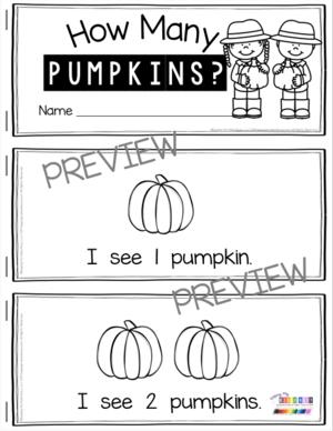 pumpkin mini book